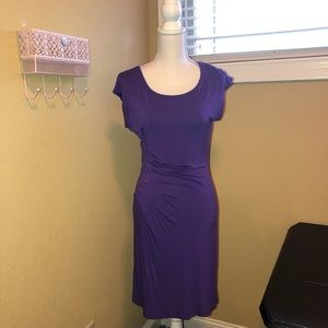 Boston Proper Dresses - Boston Proper Short Sleeve Dress Purple XS NWOT
